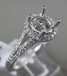 ESTATE .29CT DIAMOND 18KT WHITE GOLD 3D SEMI ETERNITY SEMI MOUNT ENGAGEMENT RING