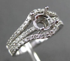 ESTATE WIDE .50CT DIAMOND 14KT WHITE GOLD HALO SEMI MOUNT ENGAGEMENT RING #22023