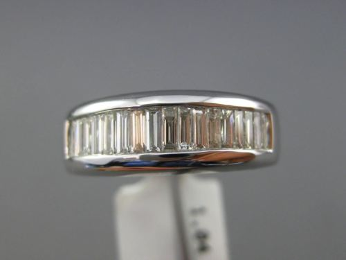 ESTATE 1.04CT BAGUETTE DIAMOND 14KT WHITE GOLD CLASSIC WEDDING ANNIVERSARY RING