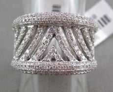 ESTATE WIDE 18KT 1.30CTW DIAMOND PAVE COCKTAIL ANNIVERSARY RING SIMPLY BEAUTIFUL