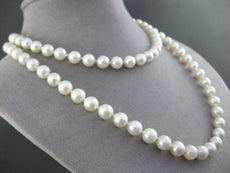 ESTATE 14K YELLOW GOLD SINGLE STRAND AAA NATURAL SOUTH SEA PEARL NECKLACE #21672