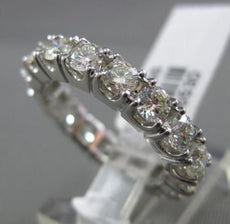ESTATE 2.66CT DIAMOND 14KT WHITE GOLD CLASSIC ETERNITY 4 PRONG ANNIVERSARY RING