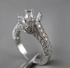 ESTATE .85CT DIAMOND 14KT WHITE GOLD 3D TENSION SEMI MOUNT ENGAGEMENT RING 19361
