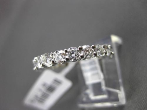 ESTATE 2.39CT ROUND DIAMOND 14KT WHITE GOLD SHARED PRONG ETERNITY RING 3mm WIDE