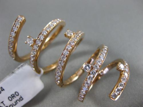 ESTATE EXTRA LARGE 1.54CT DIAMOND 18KT ROSE GOLD OPEN SWIRL ETOILE FLEXIBLE RING