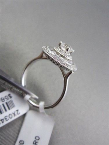 ANTIQUE 14KT WIDE BAGUETTE & ROUNDS CIRCULAR 1.0CT DIAMOND WHITE GOLD RING!!!!!!