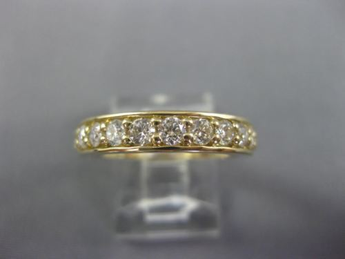 .77CT DIAMOND 14KT YELLOW GOLD 3D CLASSIC SEMI ETERNITY WEDDING ANNIVERSARY RING