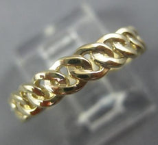 ESTATE 14KT YELLOW GOLD HANDCRAFTED ETERNITY LOVE KNOT WEDDING ANNIVERSARY RING