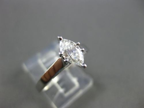 ESTATE MARQUISE DIAMOND 14KT WHITE GOLD SOLITAIRE ENGAGEMENT RING F VS #20206