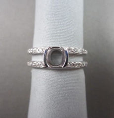 ESTATE .36CTW DIAMOND 18KT WHITE GOLD 3D SEMI MOUNT BEZEL ENGAGEMENT RING #11188