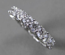 ESTATE 3.5CT DIAMOND 14K WHITE GOLD SHARED PRONG ETERNITY WEDDING RING 4mm 21838