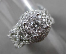 ESTATE 1.30CT DIAMOND 14KT WHITE GOLD 3D FILIGREE WEDDING ENGAGEMENT INSERT RING