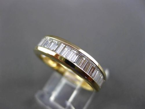 ESTATE 1.15CT BAGUETTE CUT DIAMOND 14KT YELLOW GOLD ANNIVERSARY RING #14763