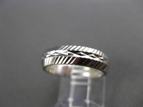 ANTIQUE 14K WHITE GOLD 3D FILIGREE ETERNITY WEDDING ANNIVERSARY RING BAND #18954
