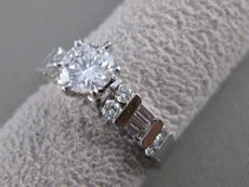 ESTATE 1.42CT ROUND DIAMOND 14K WHITE GOLD CHANNEL ENGAGEMENT RING F VSSI1 21347