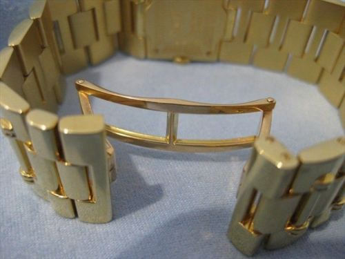 "LARGE WIDE PIAGET DANCER 18K YELLOW GOLD SWISS WATCH BRACELET 7"" INCH 21MM 19180"