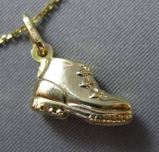 ESTATE 14KT YELLOW GOLD HANDCRAFTED BABY BOY BOOTY CHARM FLOATING PENDANT #25210