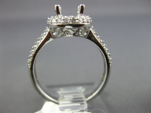 .70CT ROUND DIAMOND 14KT WHITE GOLD DOUBLE HALO SEMI MOUNT ENGAGEMENT RING 2605