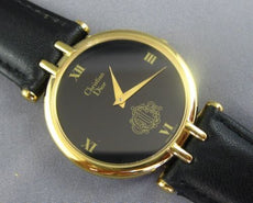 ESTATE WIDE CHRISTIAN DIOR SWISS MADE CLASSIC ROUND ROMAN NUMERAL WATCH #26044