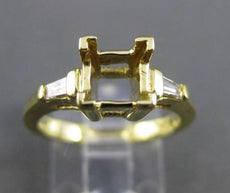 ESTATE .15CT DIAMOND 14KT YELLOW GOLD 3D HALO SEMI MOUNT ENGAGEMENT RING #6096