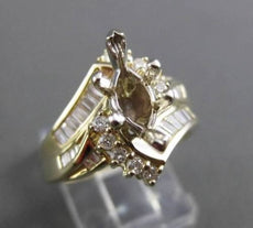 ESTATE .90CT DIAMOND 14KT YELLOW GOLD CURVED SEMI MOUNT ENGAGEMENT RING #16315