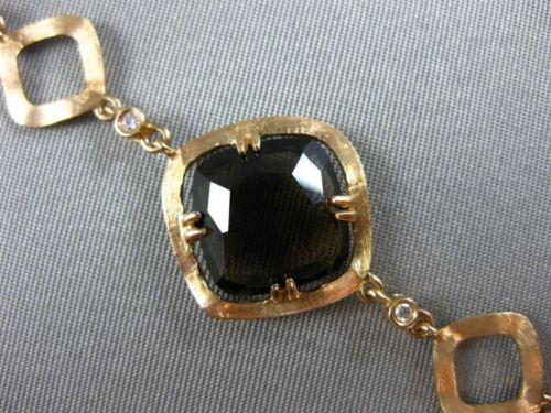 ESTATE 21.31CT DIAMOND SMOKEY TOPAZ & PINK QUARTZ 18KT ROSE GOLD ETOILE BRACELET