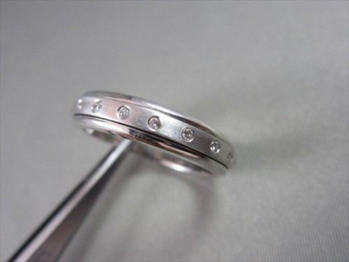 6mm HAND CRAFTED .50CT F VVS DIAMOND 14KT WHITE GOLD RING BAND SIZE 12.25 !!!!!!