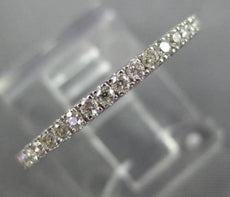 ESTATE .20CT DIAMOND 14KT WHITE GOLD 3D CLASSIC SEMI ETERNITY ANNIVERSARY RING