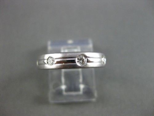 ESTATE WIDE .32CT DIAMOND 14KT WHITE GOLD ETOILE ETERNITY ANNIVERSARY RING 16200