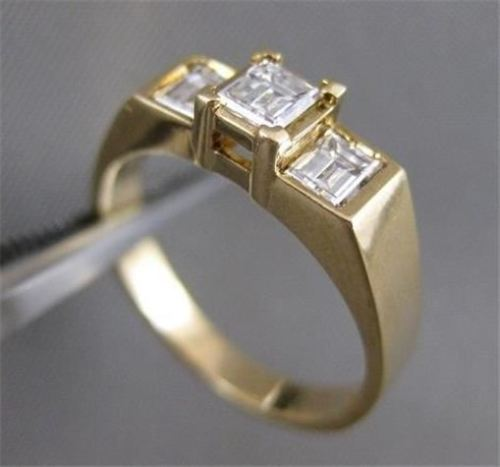 ESTATE .78CT PRINCESS DIAMOND ANNIVERSARY ENGAGEMENT 14K GOLD RING 5M EF VVS 134