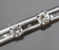 ESTATE .20CT ROUND DIAMOND 14K WHITE GOLD STUD EARRINGS 2.5mm WIDE F/G VS #22811