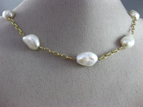 ESTATE LONG 14KT YELLOW GOLD 3D AAA SOUTH SEA PEARL BY THE YARD CHOKER NECKLACE