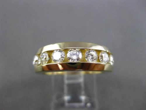 ESTATE 1.10CT DIAMOND 14K YELLOW GOLD 7 STONE CHANNEL ETOILE WEDDING RING #21027