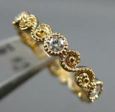 ESTATE .30CT DIAMOND 14KT YELLOW GOLD 3D FILIGREE 6 STONE ETERNITY INFINITY RING