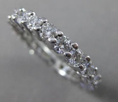 ESTATE 2.05CT ROUND DIAMOND PLATINUM SHARED PRONG ETERNITY RING 3mm #18895