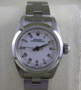 MINT ROLEX OYSTER PERPETUAL STAINLESS STEEL LADIES WATCH BOX 25MM SEALED #21583