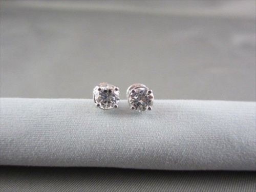 ANTIQUE 14KT GOLD 1.05CT 6MM ROUND DIAMOND STUD EARRINGS F-G VS ONE OF A KIND!!!