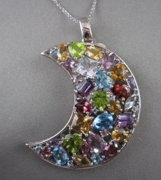 ANTIQUE 14KT LARGE 26.0 CT MULTI GEM MOON PENDANT SIMPLY EXCEPTIONAL!!!!!!!!!!!!