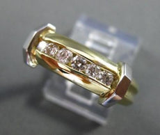 ESTATE .30CT DIAMOND 6 STONE 14KT WHITE & YELLOW GOLD ANNIVERSARY RING #11371