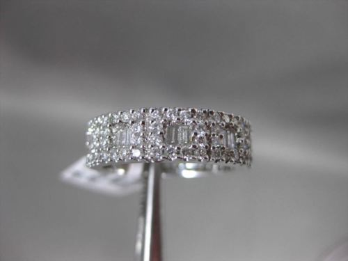 ANTIQUE 1.50CT MULTI SHAPE DIAMOND 18KT WHITE GOLD SQUARE HALO ANNIVERSARY RING