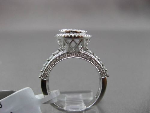 ESTATE 1.15CT DIAMOND 18KT WHITE GOLD 3D HALO CLUSTER PROMISE ENGAGEMENT RING