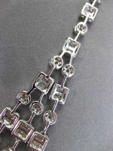 ESTATE EXTRA LARGE 21.62CT DIAMOND 18KT WHITE GOLD 3D SQUARE JOURNEY NECKLACE