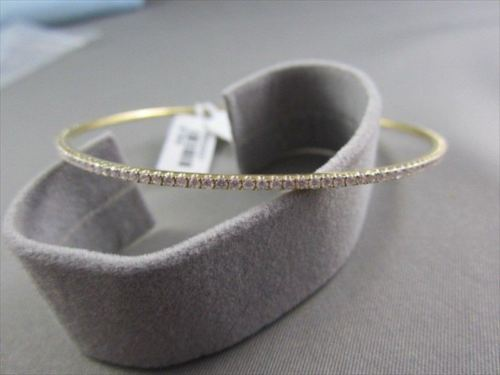 ANTIQUE NARROW 2.60CT DIAMOND 18KT YELLOW GOLD 2MM WIDE BANGLE SIMPLY BEAUTIFUL!