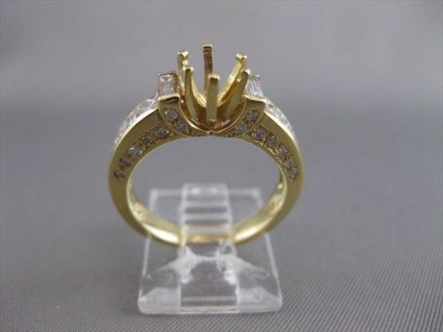 ESTATE 1.58CTW DIAMOND 18K YELLOW GOLD ENGAGEMENT RING SEMI MOUNT SETTING #20656