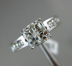 ESTATE 1.75CT ROUND & ASHER DIAMOND 14KT WHITE GOLD 3D INVISIBLE ENGAGEMENT RING