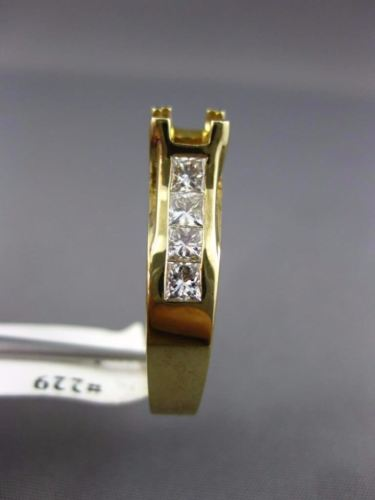 1.30CT DIAMOND 14KT YELLOW GOLD 3D LUCIDA SEMI MOUNT SQUARE ENGAGEMENT RING #229