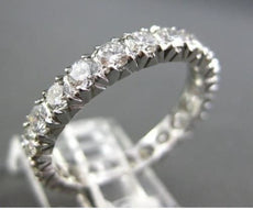 ESTATE 3.30CTW DIAMOND PLATINUM ETERNITY ANNIVERSARY WEDDING RING AMAZING #22139