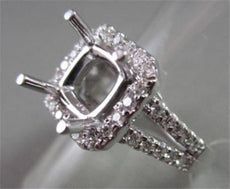 ESTATE PRINCESS DIAMOND 14K WHITE GOLD ENGAGEMENT RING SEMI MOUNT SETTING #21830