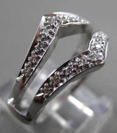 ANTIQUE WIDE .18CT OLD MINE DIAMOND 14KT WHITE GOLD PAVE INSERT RING #22030
