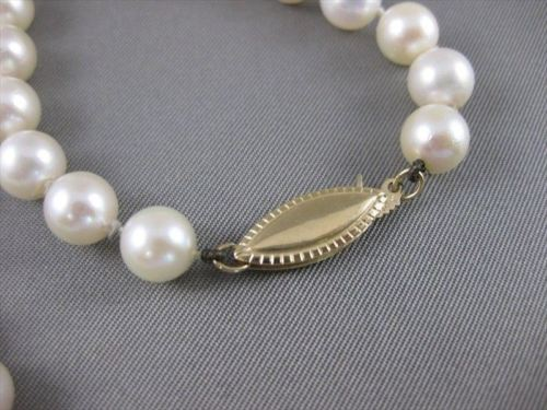 "ESTATE XL LONG 7MM SOUTH SEA PEARL 14KT YELLOW GOLD 36"" INCH NECKLACE #19945"